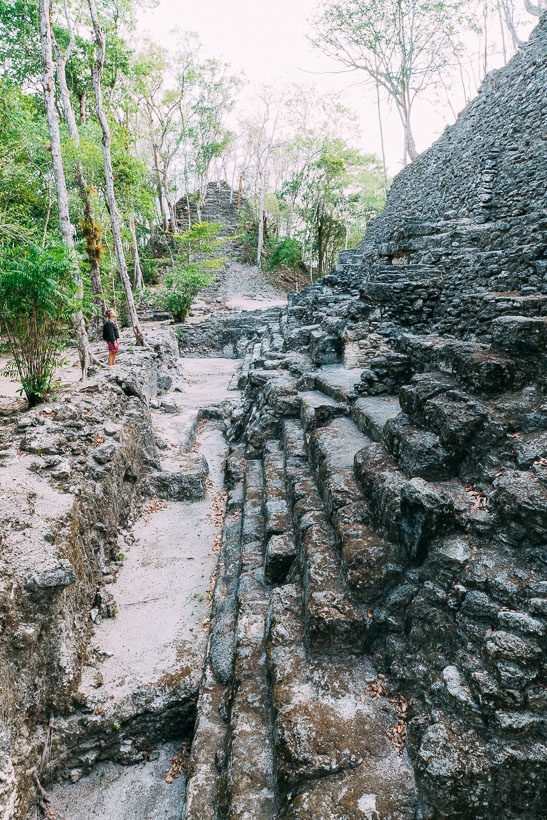 El Mirador exposed ruins