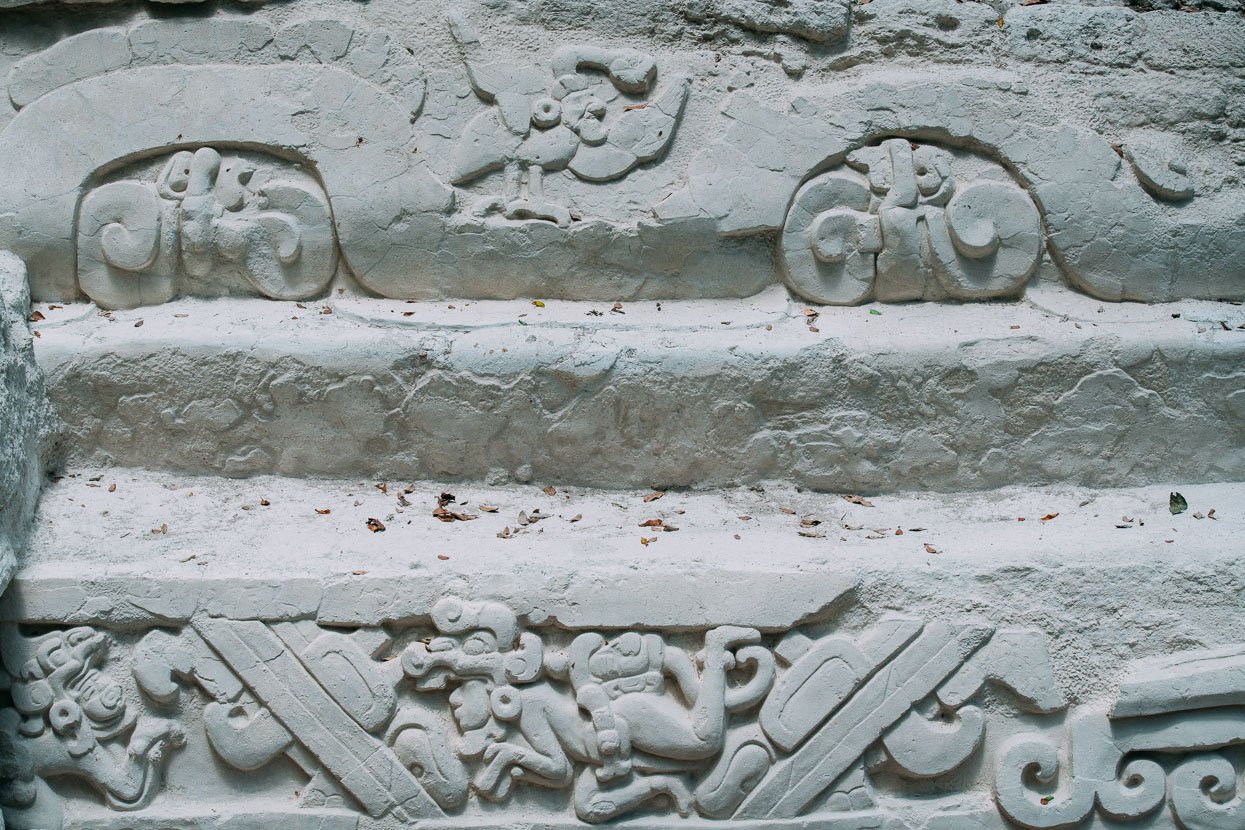 Mayan carvings at El Mirador