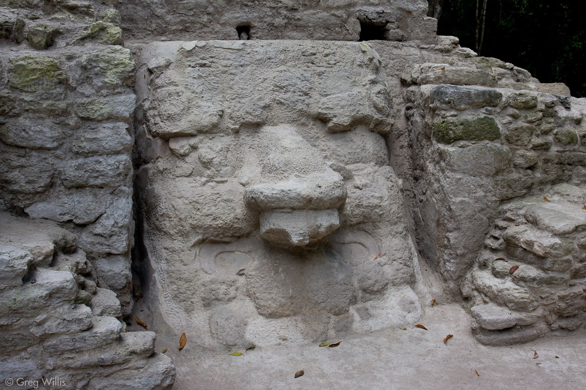Temple with Mask, in Mirador