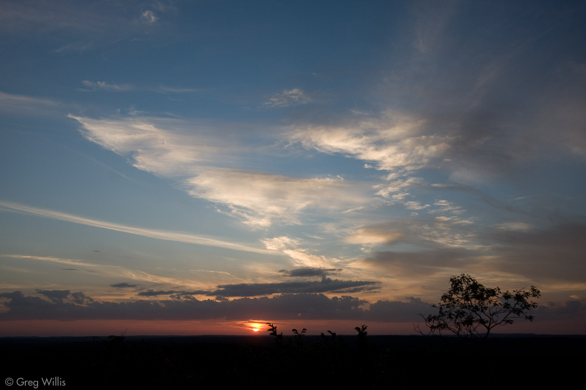 Sunset from Temple 1, Nakbe